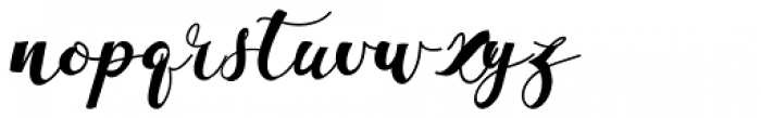 La Vie En Flower Regular Font LOWERCASE