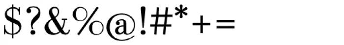 LaBodoni Plain TF Font OTHER CHARS