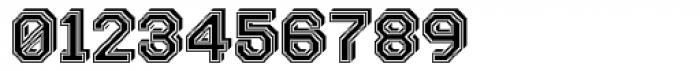 Labelo 3D Varsity Font OTHER CHARS