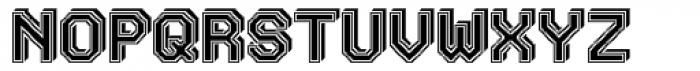 Labelo 3D Varsity Font UPPERCASE