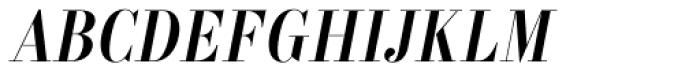 Labernia TitCond Regular Italic Font UPPERCASE