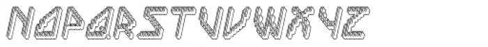 Labolg Positive Italic Font UPPERCASE