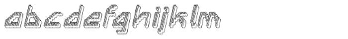 Labolg Positive Italic Font LOWERCASE