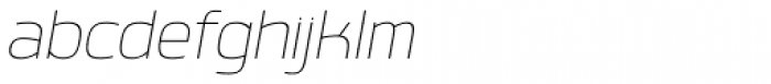 Labrador B Thin Italic Font LOWERCASE