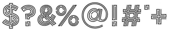 Labyrinthus Inline Font OTHER CHARS