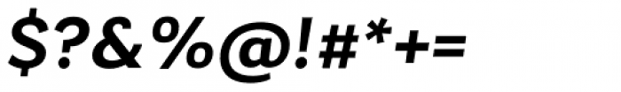 Laca Text Semibold Italic Font OTHER CHARS