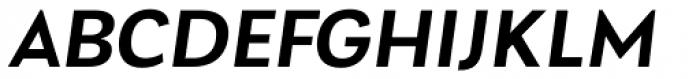 Laca Text Semibold Italic Font UPPERCASE