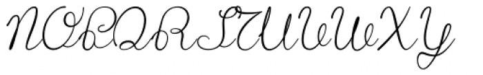 Lace Font UPPERCASE