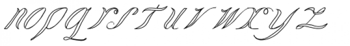 Lady Vittoria Voided Font LOWERCASE