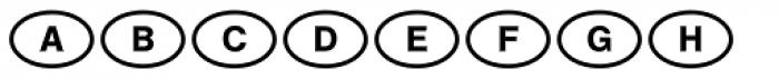Laenderkennzeichen Font UPPERCASE