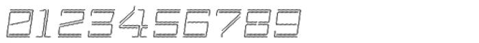 Laftatic 4F Stripes Italic Font OTHER CHARS