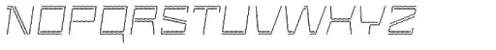 Laftatic 4F Stripes Italic Font UPPERCASE