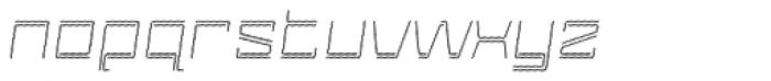 Laftatic 4F Stripes Italic Font LOWERCASE