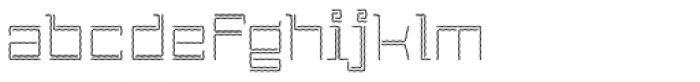 Laftatic 4F Stripes Font LOWERCASE