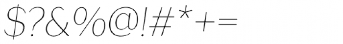 Lagu Sans Thin Italic Font OTHER CHARS