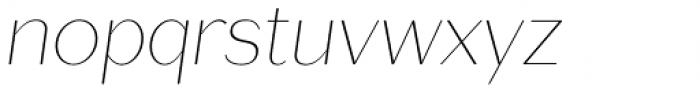 Lagu Sans Thin Italic Font LOWERCASE