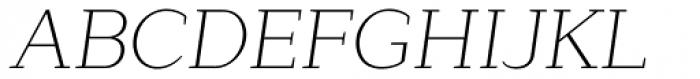 Lagu Serif Extra Light Italic Font UPPERCASE