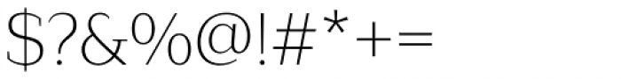 Lagu Serif Extra Light Font OTHER CHARS