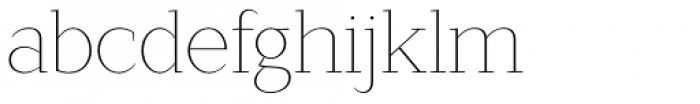 Lagu Serif Thin Font LOWERCASE