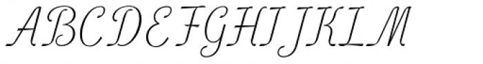 Lambo Thin Font UPPERCASE