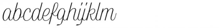 Lambo Thin Font LOWERCASE