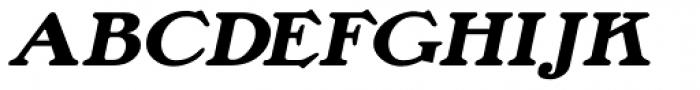 Lamp Post Oblique JNL Font UPPERCASE
