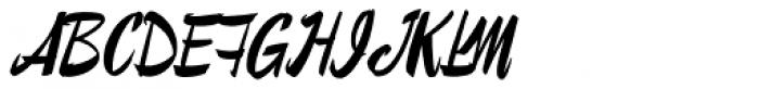 Lampoon Brush 100 Font UPPERCASE