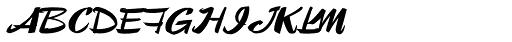 Lampoon Brush 60 Font UPPERCASE