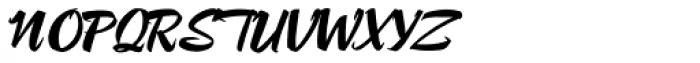 Lampoon Brush 70 Font UPPERCASE