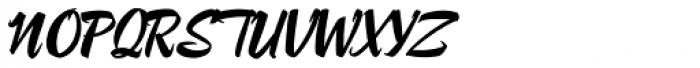 Lampoon Brush 80 Font UPPERCASE