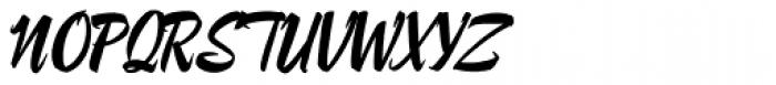 Lampoon Brush 90 Font UPPERCASE