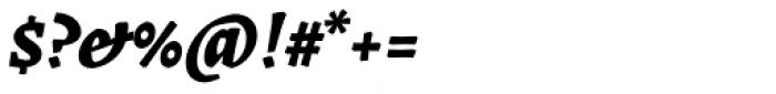 Landa Extra Bold Italic Font OTHER CHARS