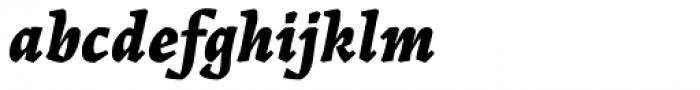 Landa Extra Bold Italic Font LOWERCASE