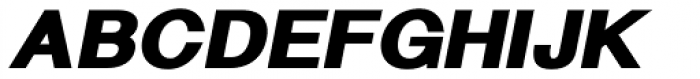 Langton Fat Italic Font UPPERCASE