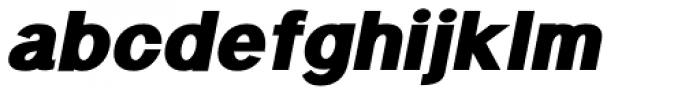 Langton Fat Italic Font LOWERCASE