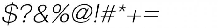 Langton Light Italic Font OTHER CHARS