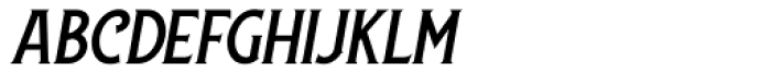 Lansdowne Slanted Font UPPERCASE
