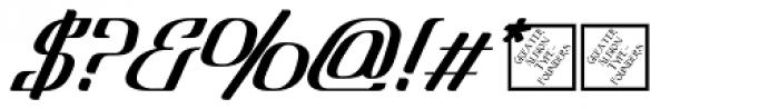 Lanvier Double Oblique Bold Font OTHER CHARS