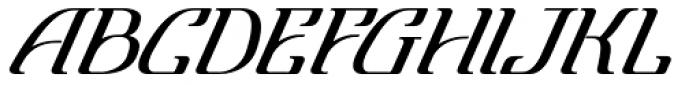 Lanvier Double Oblique Bold Font UPPERCASE