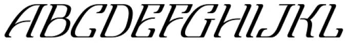 Lanvier Double Oblique Font UPPERCASE