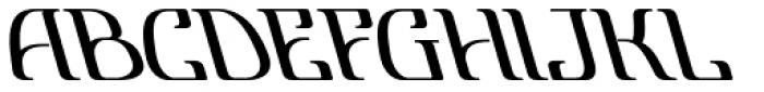 Lanvier Reverse Oblique Bold Font LOWERCASE