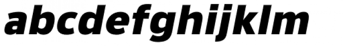 Lanz Black Italic Font LOWERCASE