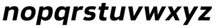 Lanz Heavy Italic Font LOWERCASE