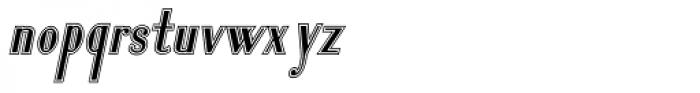 Lanzelott San Serif College Italic Font LOWERCASE