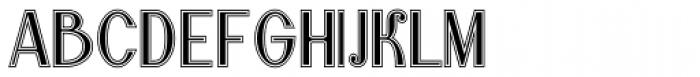 Lanzelott San Serif College Font UPPERCASE