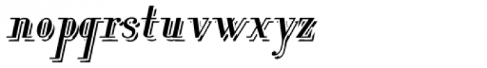 Lanzelott Shadow Italic Font LOWERCASE