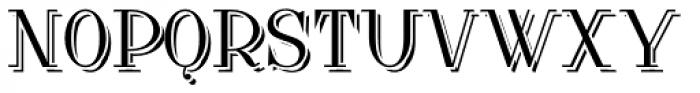 Lanzelott Shadow Font UPPERCASE