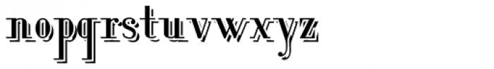Lanzelott Shadow Font LOWERCASE