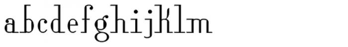Lanzelott Thin Font LOWERCASE