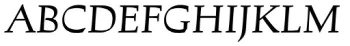 Lapis Pro Medium Italic Font UPPERCASE